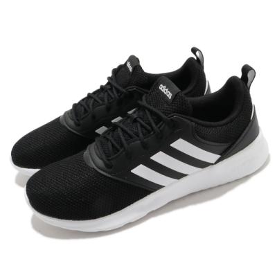 adidas 慢跑鞋 QT Racer 2 女鞋 愛迪達 三線 基本款 舒適 透氣 黑 白 FY8320