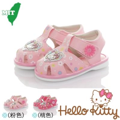 HelloKitty童鞋 輕量減壓吸震寶寶學步嗶嗶鞋-粉.桃