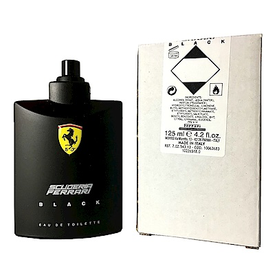 Ferrari 法拉利 Black 黑色法拉利男性淡香水125ml TESTER(新包裝)