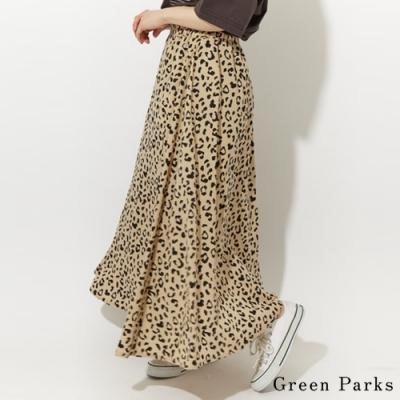 Green Parks 豹紋喇叭長裙
