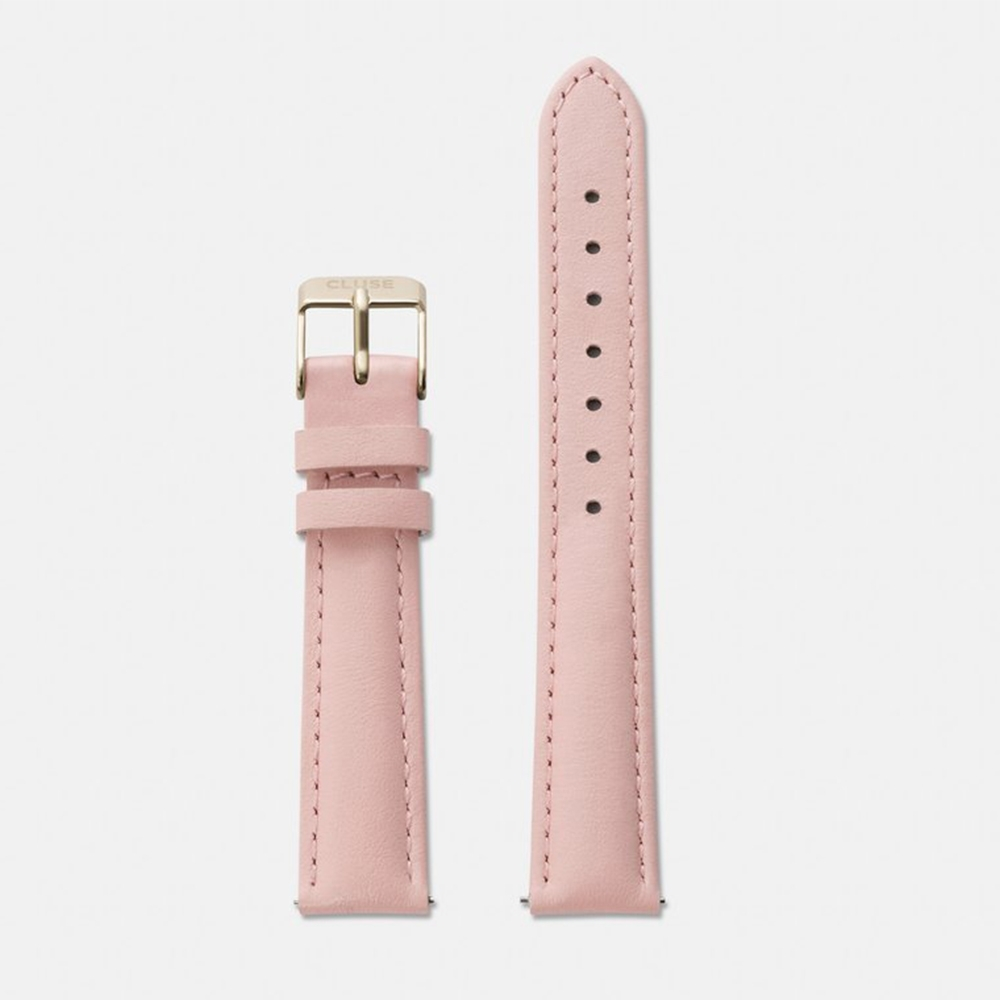 CLUSE  16mm 粉色真皮錶帶 (CLUSE 33mm&28.5mm錶面款式皆可)
