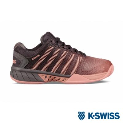K-SWISS Hypercourt Express網球鞋-女-灰/蜜桃粉