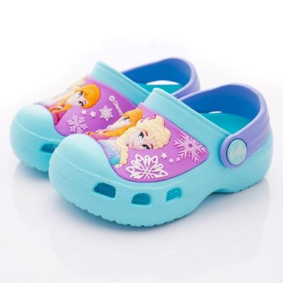 迪士尼童鞋 冰雪奇緣護趾涼鞋款 NI4025湖水綠(中小童段)