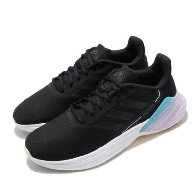 adidas 慢跑鞋 Response SR 運動休閒 女鞋 愛迪達 三線 路跑 緩震 透氣 球鞋穿搭 黑 紫 FX8914