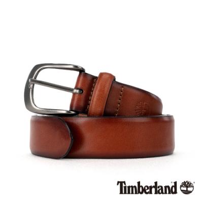 Timberland 中性橘棕色34MM休閒皮帶|A1DSR
