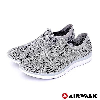 【AIRWALK】流線力學編織襪感休閒-淺麻灰