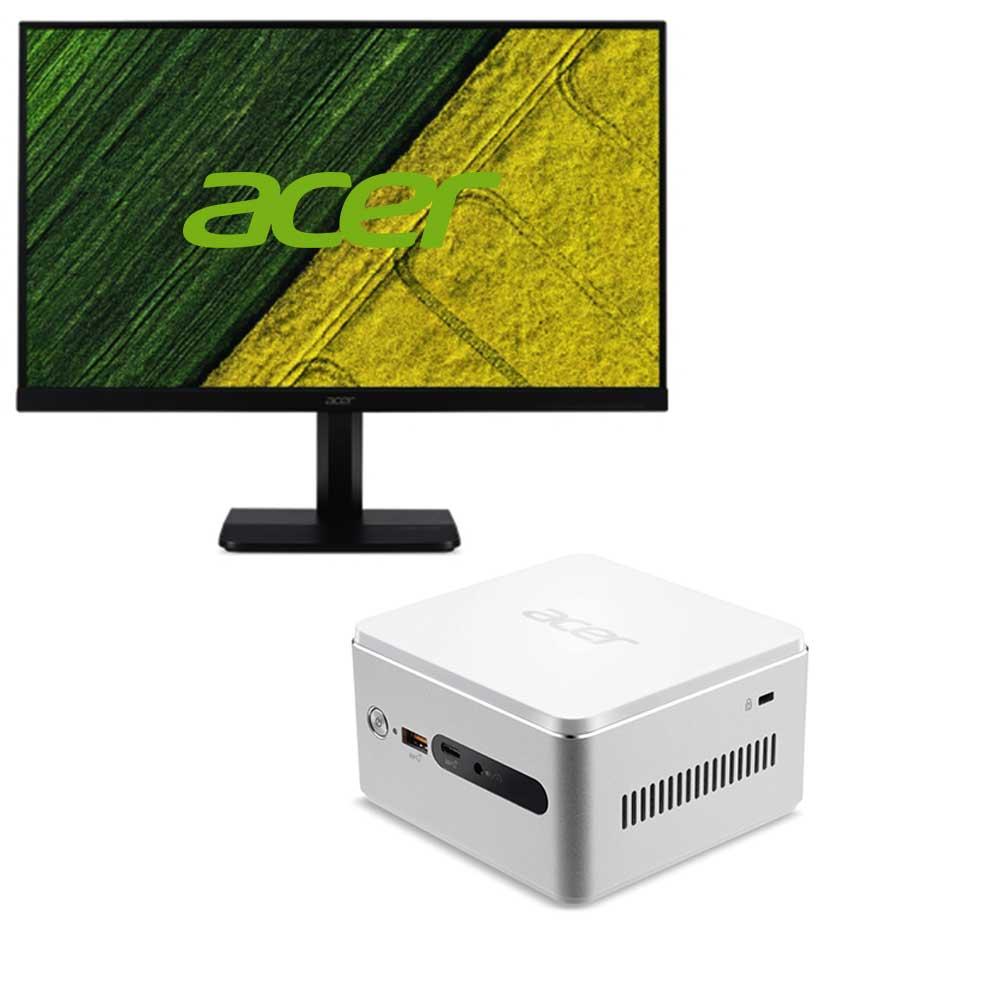 Acer Revo RN76 迷你桌機+薄邊框電腦螢幕組