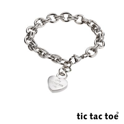 tic tac toe 白鋼手鍊 愛心 TI-648-2-1