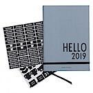 DESIGN LETTERS HELLO 2019 經典年曆 - 沉穩灰