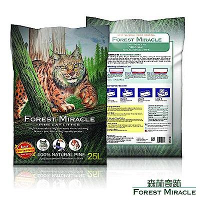 ForestMiracle 森林奇跡 天然環保 崩解型 松木砂 貓砂 25L 2包組