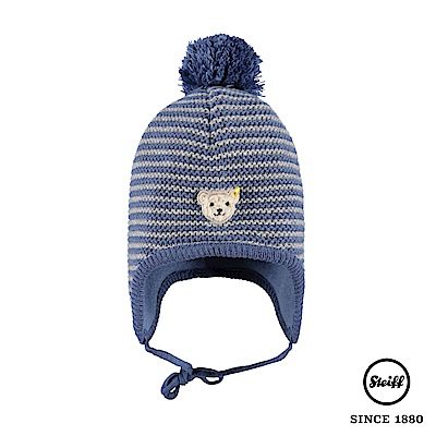 STEIFF德國精品童裝 條紋球球羊毛針織帽