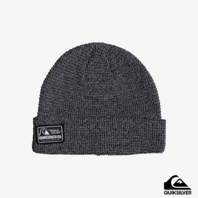 【QUIKSILVER】LOCAL BEANIE PATCH 毛帽 灰
