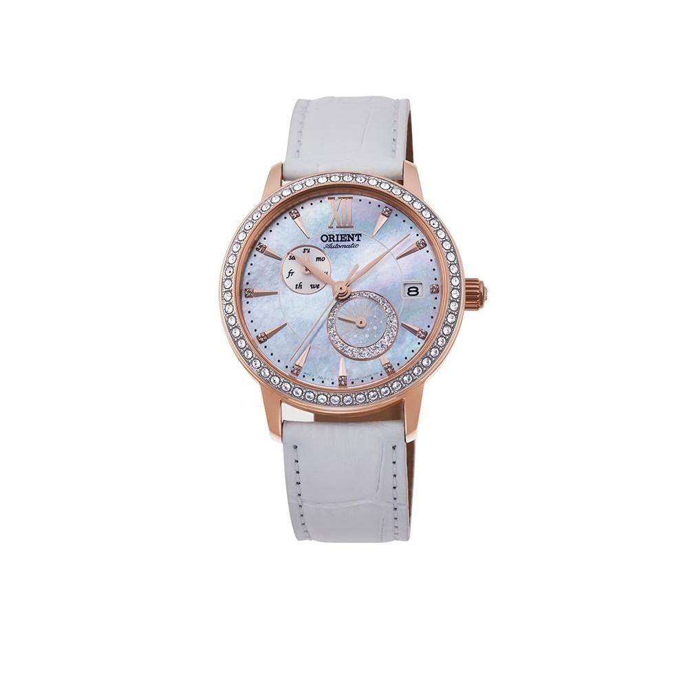 ORIENT 東方錶 璀璨星辰 藍寶石鏡面 機械錶(RA-AK0004A)白/36.5mm