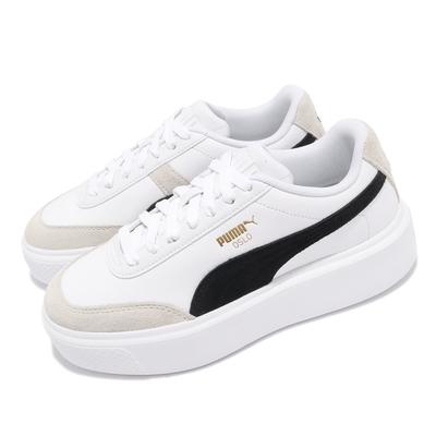 Puma 休閒鞋 Oslo Maja Archive 女鞋 厚底 微增高 穿搭推薦 麂皮 白 黑 37505701