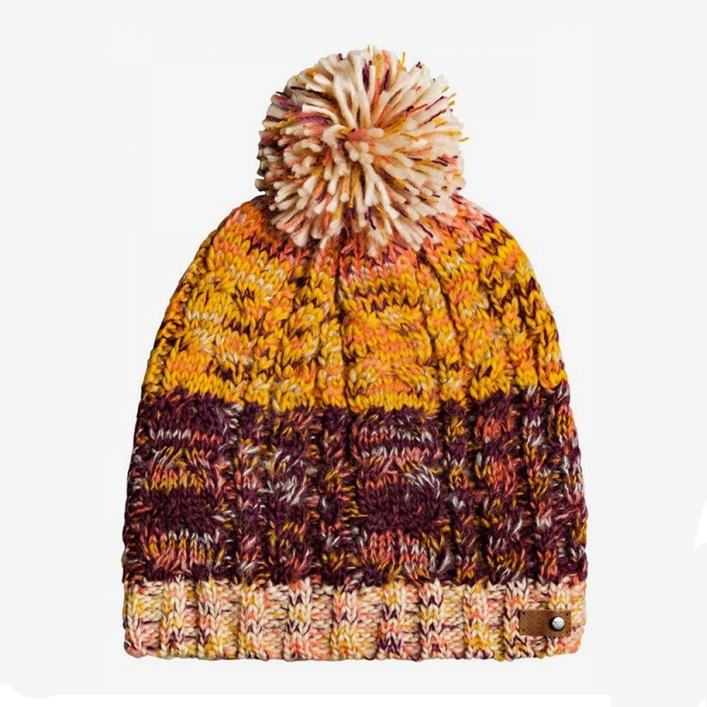 【ROXY】TELMA BLOCK BEANIE 毛帽 紫紅