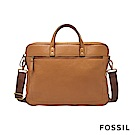 FOSSIL HASKELL 15吋筆電 駝色真皮商旅公事包