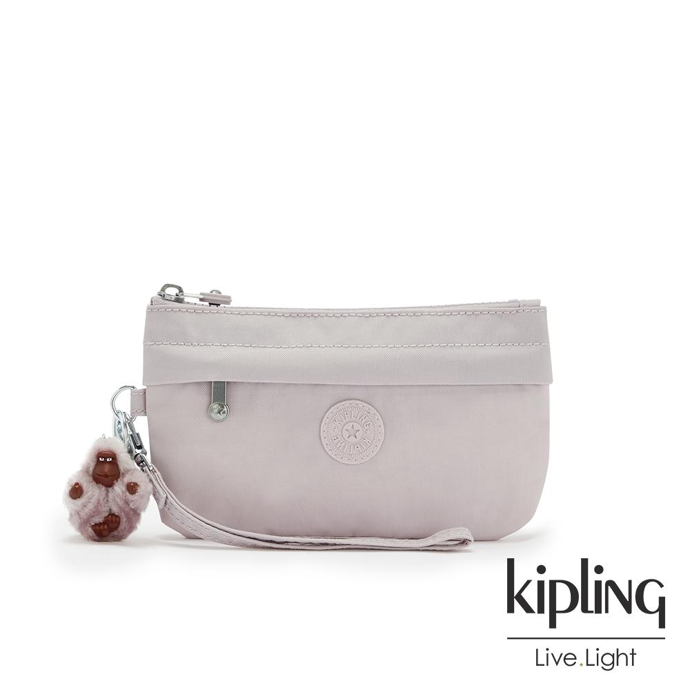 Kipling 優雅高級灰手拿配件包-NIYLAH