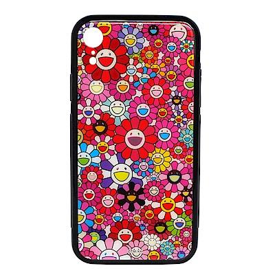 KaiKai Kiki 限量村上隆滿版花花設計I Phone XR手機殼 (紅色)