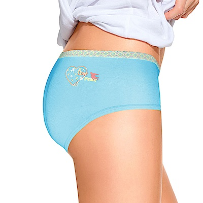 sloggi-Giggle 微甜笑顏系平口內褲M-EL(藍)