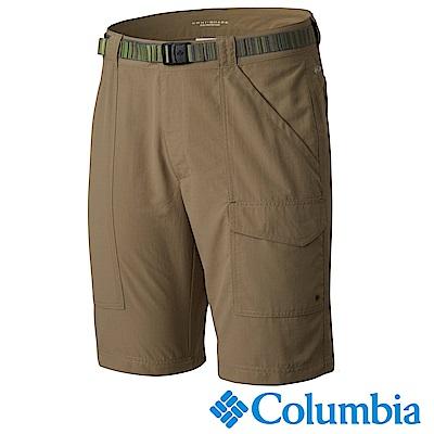 Columbia 哥倫比亞 男款- 防曬50防潑短褲-棕色 UAE01350BN