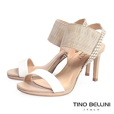 Tino Bellini 巴西進口異元素細緻高跟涼鞋 _ 白