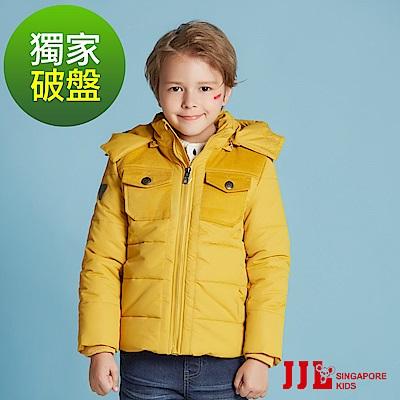 JJLKIDS 經典立領防風保暖厚鋪棉連帽外套(2色)