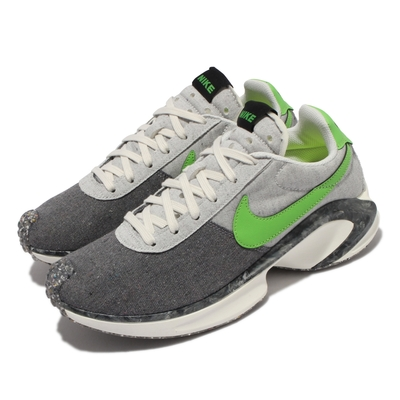 Nike 休閒鞋 D MS X Waffle 運動 男鞋 海外限定 復古設計 帆布 球鞋穿搭 灰 綠 CW6914-001