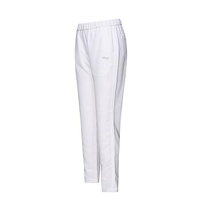 FILA 女款平織長褲-白色 5PNT-1494-WT