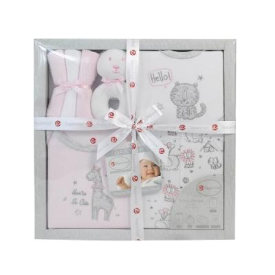 美國Elegant kids-粉色動物園7件式彌月禮盒