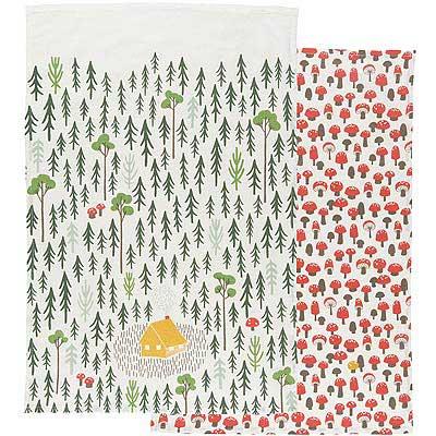 DANICA 餐廚布巾2入(蘑菇森林)