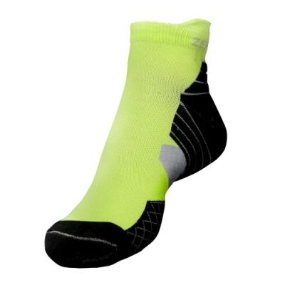 【ZEPRO】男子足弓壓縮慢跑襪-螢光綠/黑