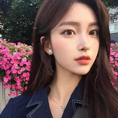 梨花HaNA 韓國925銀優雅氛圍貝殼花卉耳環