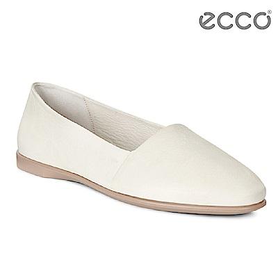 ECCO INCISE ENCHANT 超柔軟牛皮兩穿懶人鞋-白