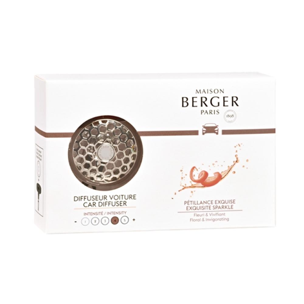 BERGER 法國柏格車用薰香夾+精緻閃耀陶片 17g-6401