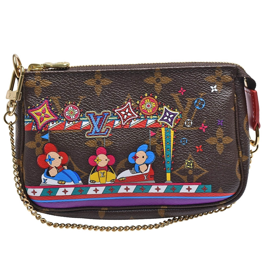 LV M69976經典MINI POCHETTE ACCESSOIRES吉祥物遊樂場玩樂拉鍊迷你手提包