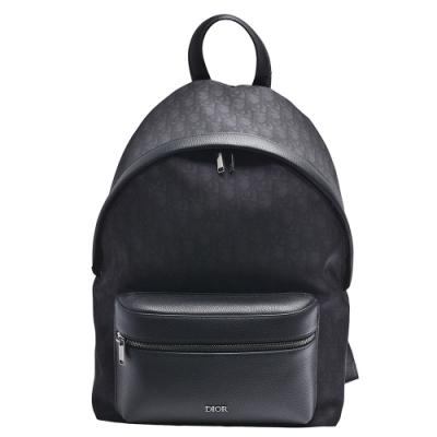 Dior 經典帆布拉鍊後背包(黑色)