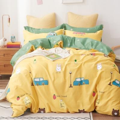 La Lune台灣製精梳棉床包枕套組 單人/雙人 均價