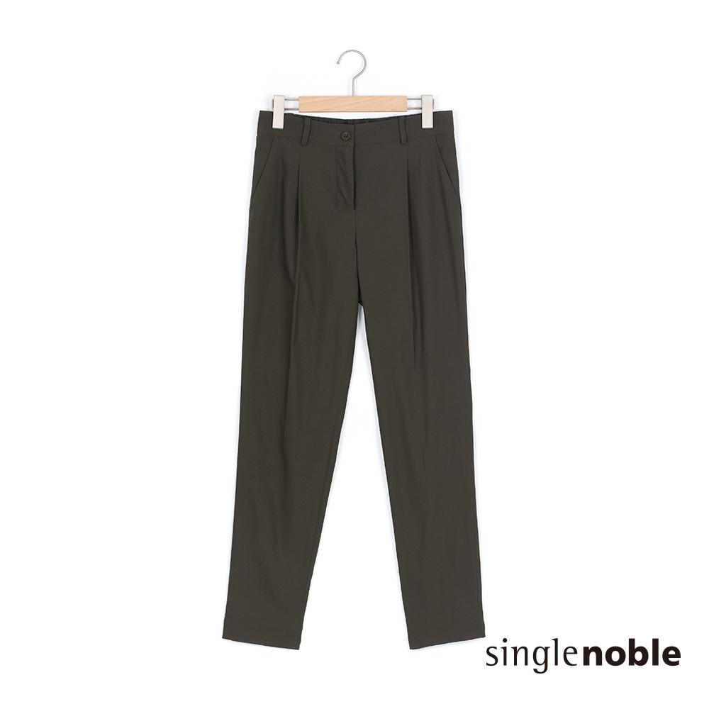 獨身貴族 簡約率性素色縮口長褲(2色)