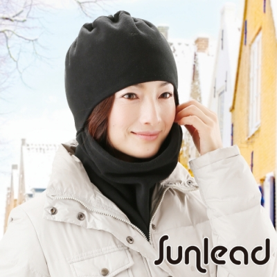 Sunlead 保暖防風吸濕發熱多機能防寒頭套/面罩/脖圍 (黑色)