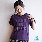 earth music 落肩標語T恤