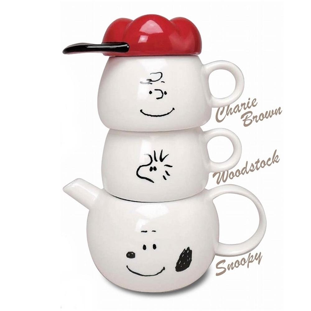 MARIMO CRAFT史努比SNOOPY茶壼茶杯組TEA FOR TWO SPY-386