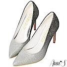 Ann'S無比氣勢-軟質漸層亮片高跟尖頭鞋-銀