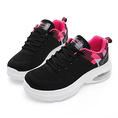 PLAYBOY 彩織氣墊輕量運動鞋-黑桃-Y5283C8