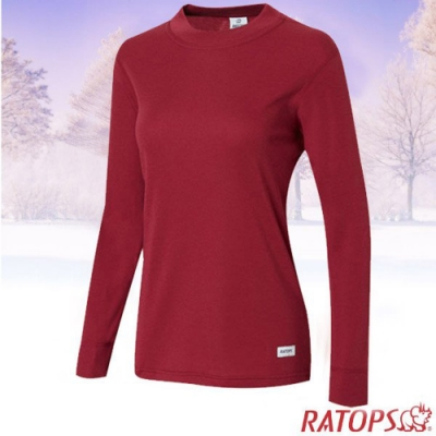 瑞多仕 女款 Thermolite 高領長袖刷毛保暖內衣_DB4530 草莓紅色