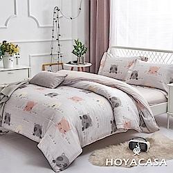HOYACASA樂園進行曲 單人四件式抗菌天絲兩用被床包組