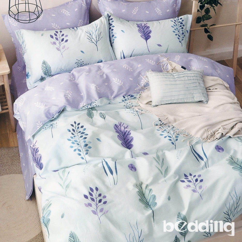 BEDDING-100%棉特大雙人8X7尺薄式被套-紫羅蘭