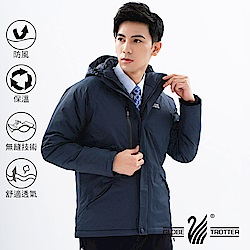 【遊遍天下】男款防風透濕保暖無車縫羽絨機能外套GJ22005丈青
