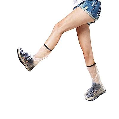 金德恩 台灣製造 男女款全透明半筒靴型M~3XL