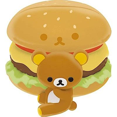拉拉熊洋食漢堡店系列文具收納盒玩。懶熊漢堡。便條夾San-X
