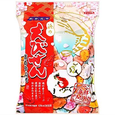 岡田屋製菓 綜合海鮮蝦仙貝(170g)